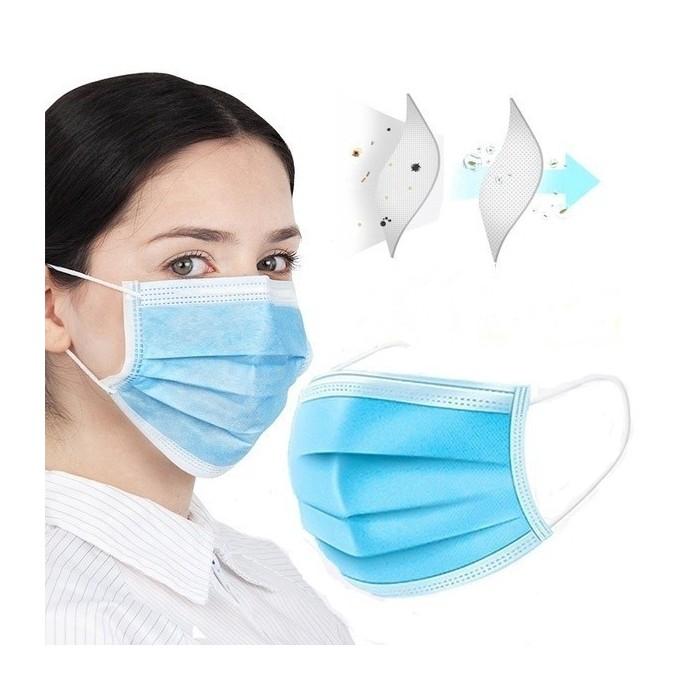 Трипластова санитарна маска 50 броя