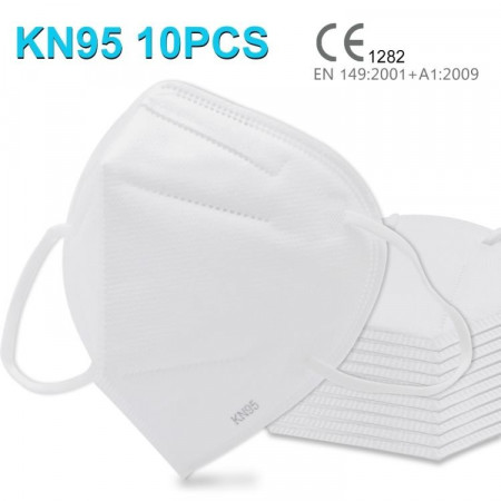 10 БРОЯ KN95-FFP2-N95 Четирипластова санитарна респиратирна маска